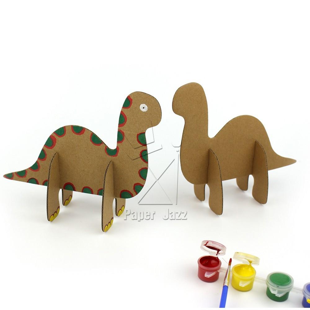 纸箱儿童手工制作恐龙_小制作大全